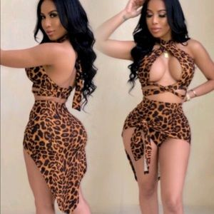 Other - Sexy Leopard Two Piece